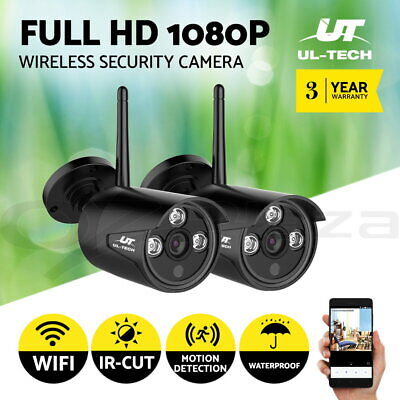 UL-TECH 2 x 1080P Wireless Security Camera System IP CCTV WIFI Waterproof Home