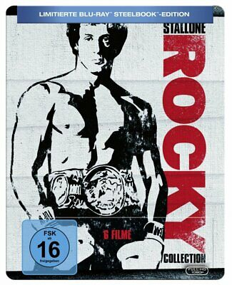 Rocky 1+2+3+4+5+6 Collection - Limited Steelbook (Rocky Balboa) # 6-BLU-RAY-NEU