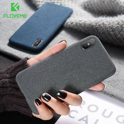 For iphone Xs Max Xr X 8 Plus Luxury Shockproof Soft TPU Fabric Case Back Covers