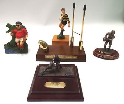 Selection Of 5 X RUGBY UNION Awards / Figures WALES / CARDIFF / Cornwall - C60