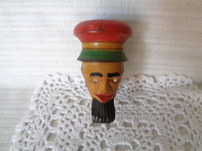 Jamaican Man Hand Carved - WOOD PIPE???