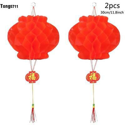2pcs Chinese New Year Red Lanterns For Chinese Spring Festival Wedding Hang