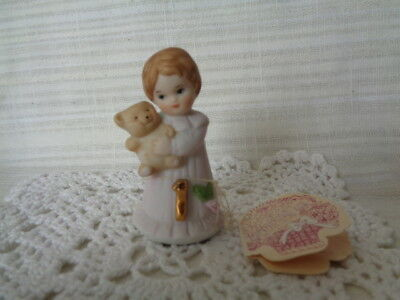 Enesco Growing Up Birthday Girls Ceramic Figurine Age 1 - With Tag