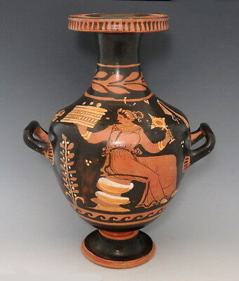 Large Greek South Italian Terracotta Red-Figure Hydria (M149)