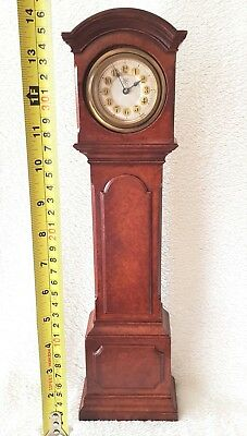 Junghans Longcase Clock Miniature Antique Rare Mantel Shelf Clock 1920s
