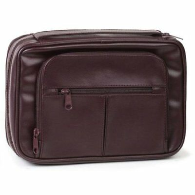 Deluxe Organizer with Study Kit Bible Cover, Burgundy, Extra Large