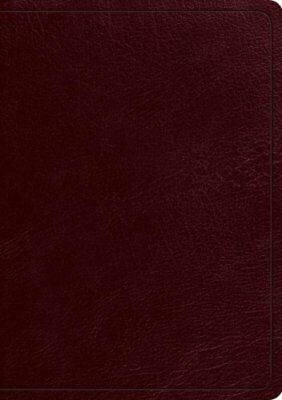 ESV Study Bible, Burgundy Genuine Leather with Thumb Index