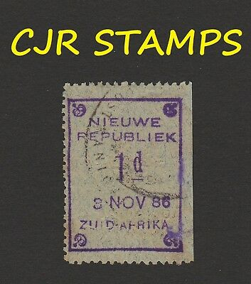 SOUTH AFRICA -  NIEUWE NEW REPUBLIC  1d   3 NOV 86   -    FINE USED