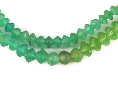Baby Vaseline Trade Beads Green Bohemian Africa 29 Inch