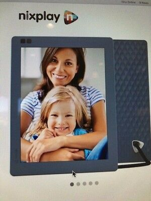 Nixplay Seed 8 Inch WiFi Cloud Digital Photo Frame with IPS Display - Blue
