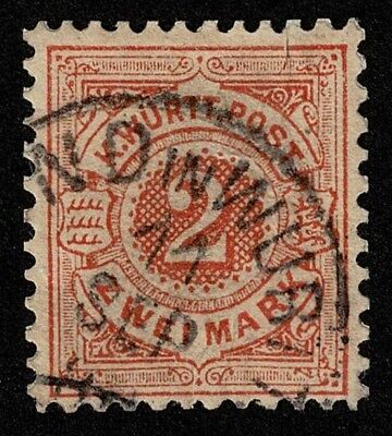 German State Wurttemberg Stamp Scott#70 2m Used Well Centered