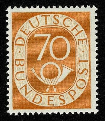 Germany Stamp Scott#683 70pf Numeral and Post Horn Mint H OG Well Centered
