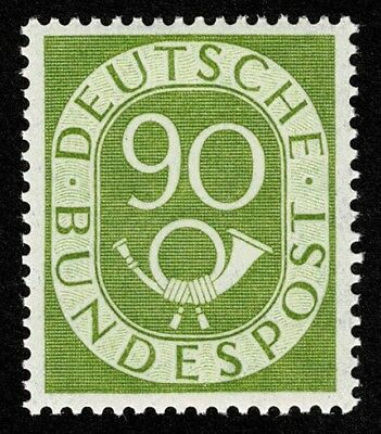 Germany Stamp Scott#685 90pf Numeral and Post Horn Mint LH OG Well Centered