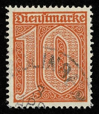 Germany Stamp Scott#O3 10pf Official Used Well Centered