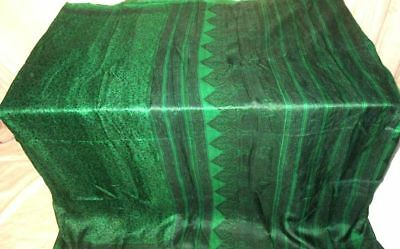 Green Pure Silk Antique Sari Saree SALE established seller pictures Steal #9CAHD