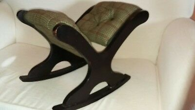 antique edwardian  rocker (gout) stool