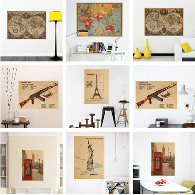 Removable Retro Wall Sticker Large Photo Living Room Bedroom Decor Poster Decal