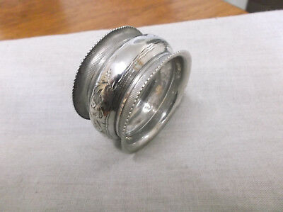 An Edwardian    Sterling Silver   Napkin Ring  Chester   1905