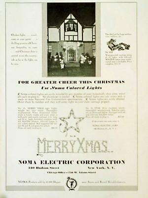 1930 Noma Electric Outdoor Lights Star Sign Christmas Decorations Photo Print AD