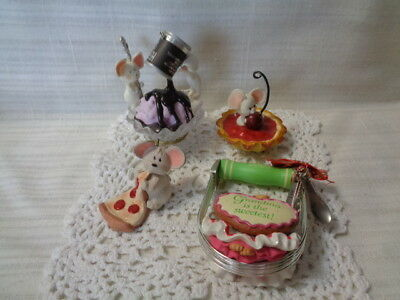 Lot Of Mouse Theme Christmas Ornament- Hallmark, American Greeting