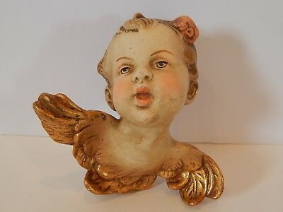Vintage German Hand Painted Angel Cherub Putti Large Size Germany