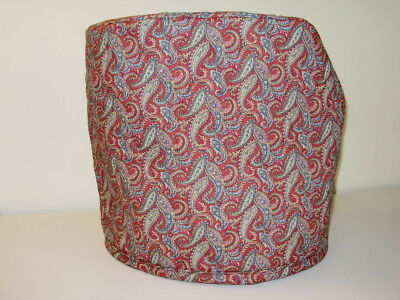 Quilted stand mixer cover - paisley print, burgundy, tan, green NEW