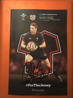 Alun Wyn Jones - Wales V Tonga 2018 - Matchday Programme Signed