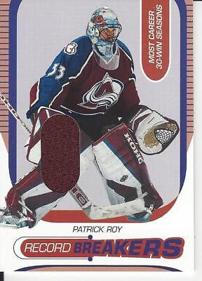 2002-03 In The Game Between The Pipes Patrick Roy Record Breakers Rb15