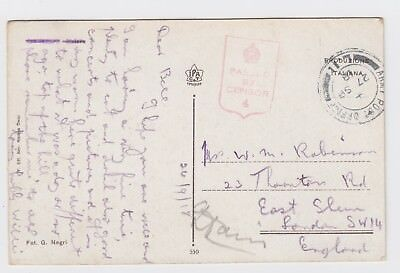 WW1 British Army Gardone Riviera 1918 Army Post Offic L11 to East Sheen