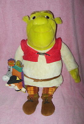 "Macy's 2007  Spec Edition 17"" Plush Shrek Doll With Finger Puppets Nwt"