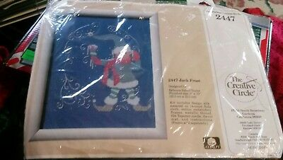 "Creative Circle Cross Stitch Kit #2447 Jack Frost Elf Size 8x10""  new unopened"