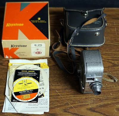 Keystone K25 Capri 8mm Film/Movie Camera (UNTESTED) FREE FAST SHIPPING