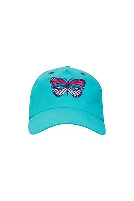 Mountain Warehouse Kids Butterfly Baseball Cap Made from 100% Cotton in Purple