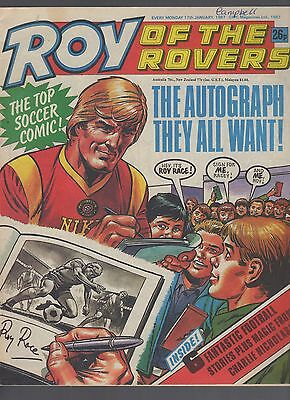 (-0-) ROY OF THE ROVERS COMIC 17th january 1987