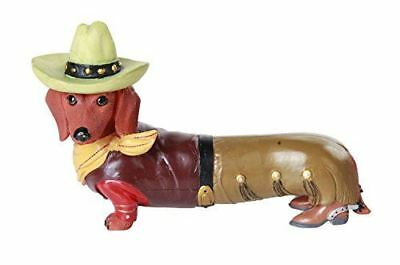 "Egift ""Long Little Western Cowboy"" Doxy Wiener Dog Dachshund Figurine"