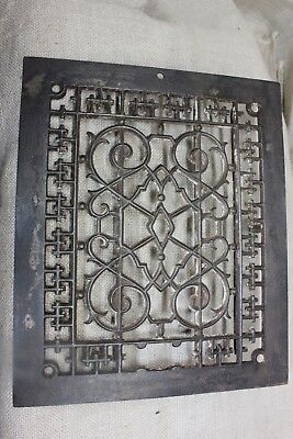 "old Heat Air Grate register only 11 5/8 x 9 5/8"" rustic iron vintage diamond"