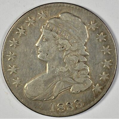 1833 Collectible Silver Capped Bust Half-Dollar (b461.50)