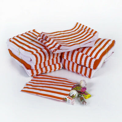 Red Candy Stripe Sweet Paper Bags  - Wedding Gift Party Paper Bags - 3 sizes!