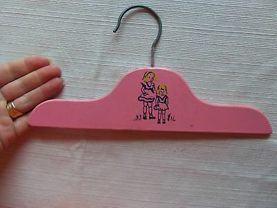 Vintage Painted Wood / Metal Baby Infant Clothes Hanger Pink ( 1 )