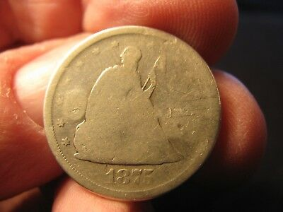 1875-S Twenty Cent Piece **counter-Stamped** Free Shipping!!