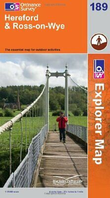 Hereford and Ross-on-Wye (OS Explorer Map) by Ordnance Survey Sheet map, folded
