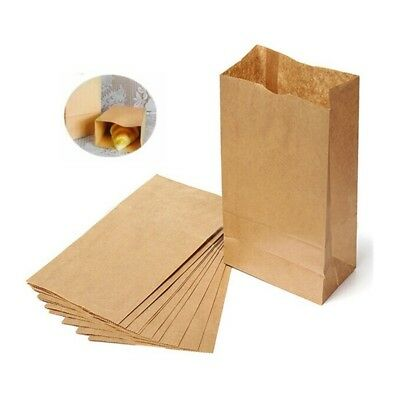 10-100PCS Small Kraft Paper Gift Candy Bag Vintage Wedding Brown Paper Bag