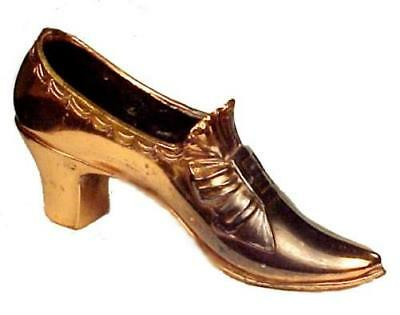 Victorian Copper Plated Bow Slipper Shoe Pin Cushion Novelty Sewing Equipment