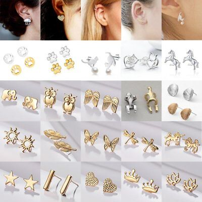 Fashion Women's Girl's Silver Earrings Cute Ear Stud Jewelry Gifts Wedding New