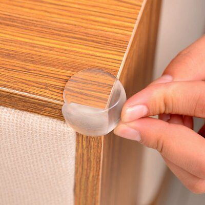 10pcs Table Desk Corner Edge Protector Cover Child Baby Safe Silicone Guard AU