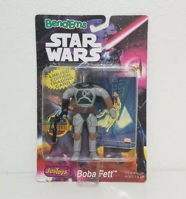 1994 Just Toys Bend Ems Boba Fett Figure Star Wars Limited Edition Trading Card