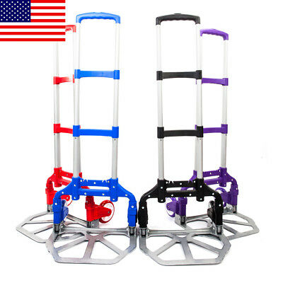 Portable Aluminium Cart Folding Dolly Push Truck Hand Collapsible Trolley US