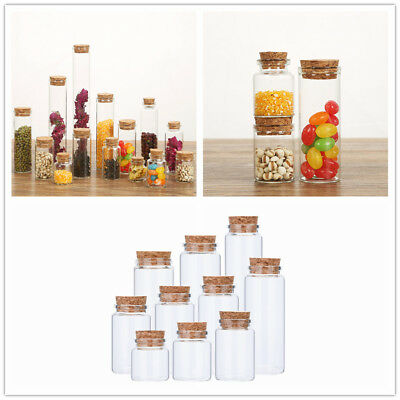 50ML Vials Clear Glass Wish Bottles with Corks Miniature Glass Bottle DIY Crafts