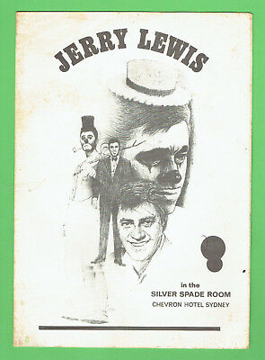 #D303. 1969  Dinner Menu - Jerry Lewis, Silver Spade Room, Chevron Hotel Sydney