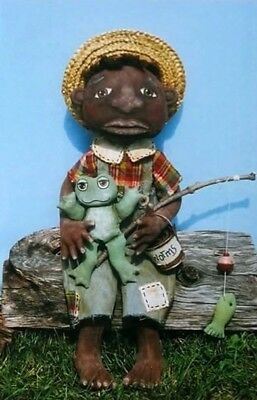 """*new* Cloth Folk Art Doll (Paper) Pattern """"willis"""" By Ginny Lettorale"""